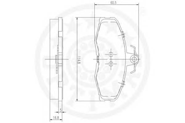 Тормозные колодки Тормозные колодки OPTIMAL арт. 9337