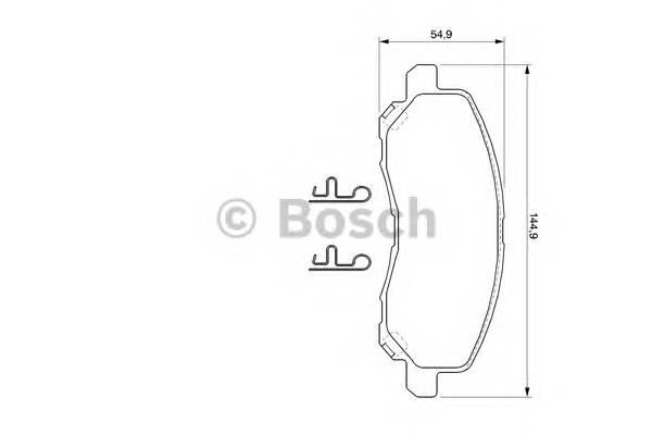 Тормозные колодки Тормозные колодки Bosch PAGID арт. 0986424716