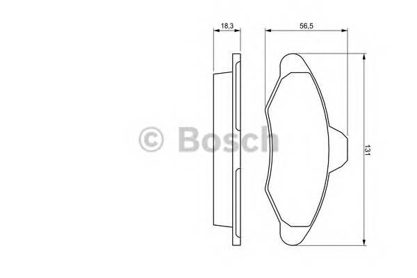 Тормозные колодки Тормозные колодки Bosch ABE арт. 0986460949