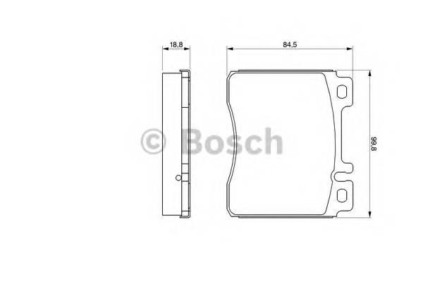 Тормозные колодки Тормозные колодки Bosch PAGID арт. 0986460976
