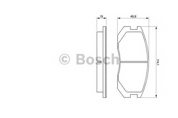 Тормозные колодки Тормозные колодки Bosch PAGID арт. 0986460980