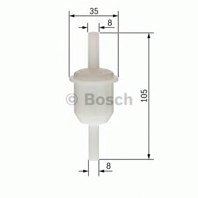 Топливная система Фільтр палива MFILTER арт. 0450904058