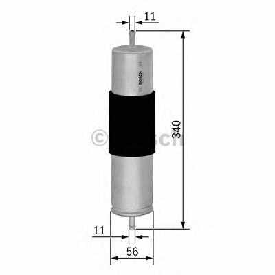 Топливные фильтры Топливный фильтр BOSCH арт. 0450905942