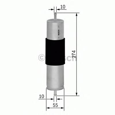 Топливные фильтры Топливный фильтр диз BOSCH арт. 0450906450