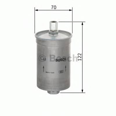 Топливные фильтры Топливный фильтр BOSCH арт. 0986450225
