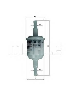 Топливная система Фільтр палива PURFLUX арт. KL13OF