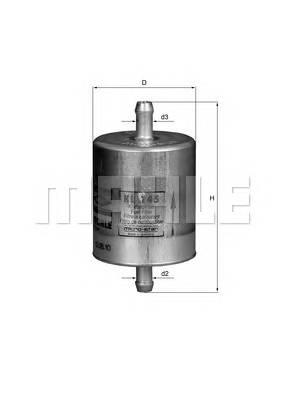 Паливний фільтр BOSCH арт. KL145