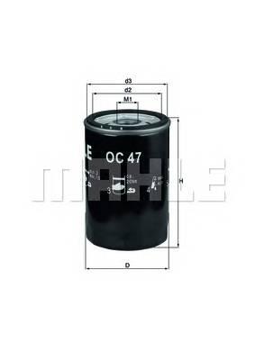 Масляные фильтры Фільтр масляний KNECHT арт. OC47