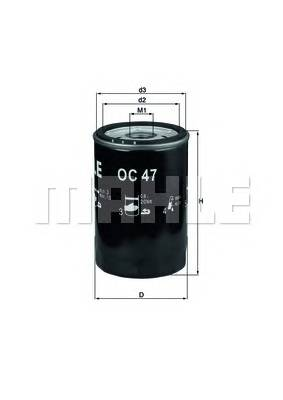 Масляные фильтры Фільтр масляний KNECHT арт. OC47OF