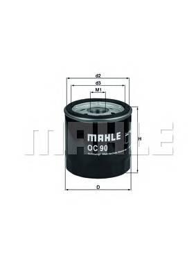 Масляные фильтры Фільтр масляний KNECHT арт. OC90