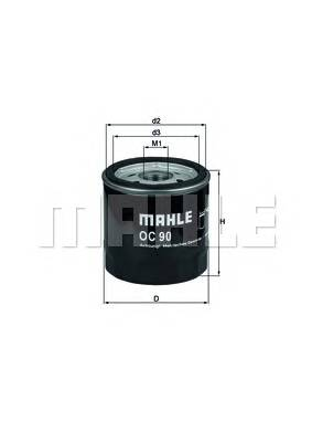 Масляные фильтры Фільтр масляний BOSCH арт. OC90