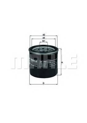 Масляные фильтры Фільтр масляний KNECHT арт. OC195