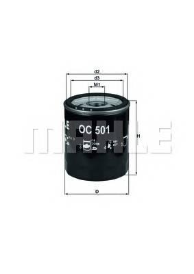 Масляные фильтры Фільтр масляний KNECHT арт. OC501