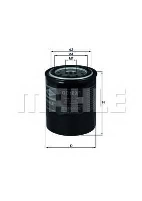 Масляные фильтры Фільтр масляний KNECHT арт. OC1091