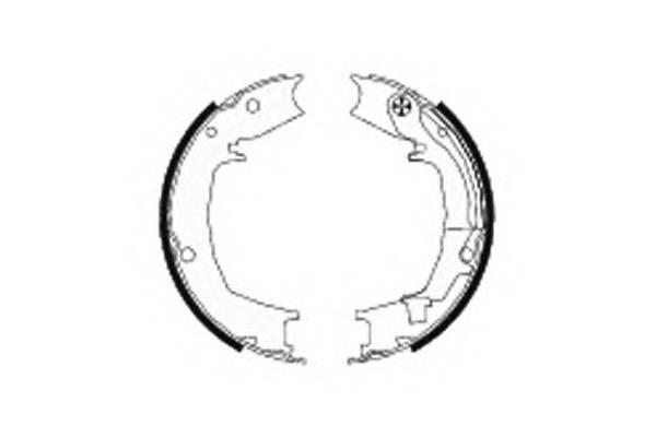 Тормозные колодки Тормозные колодки барабанные ABE арт. 91066400