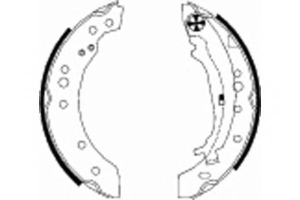 Тормозные колодки Тормозные колодки барабанные ABE арт. 91068800