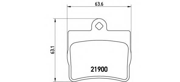 Тормозная система Гальмiвнi колодки, к-кт. PAGID арт. P50024