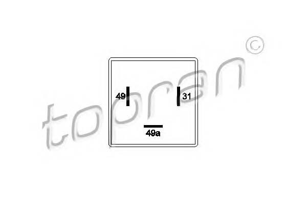 РЕЛЕ УКАЗАТЕЛЯ ПОВОРОТОВ 12V AUDI 100/200/80/90/A6/A8//VW CADDY I/CADDY II TOPRAN 103131