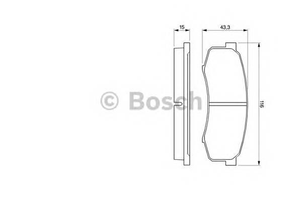 Тормозные колодки Тормозные колодки Bosch PAGID арт. 0986424313