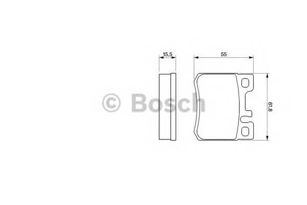 Тормозные колодки Тормозные колодки дисковые задние DB W124/202 2,0/2,2/2,8 PAGID арт. 0986424358