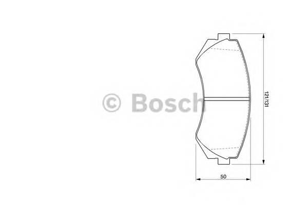 Тормозные колодки Тормозные колодки Bosch PAGID арт. 0986424489