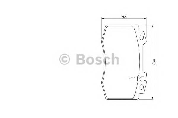 Тормозные колодки Тормозные колодки Bosch PAGID арт. 0986424705