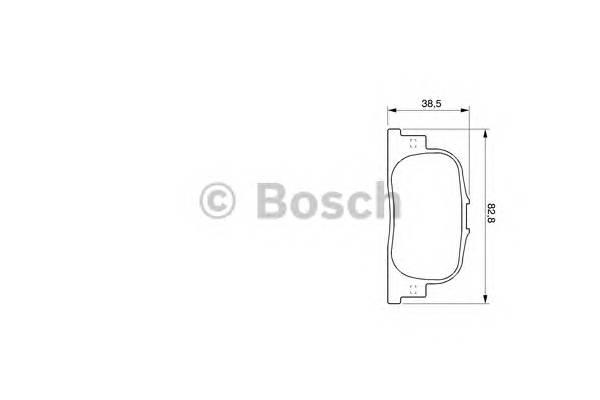Тормозные колодки Тормозные колодки Bosch PAGID арт. 0986424730