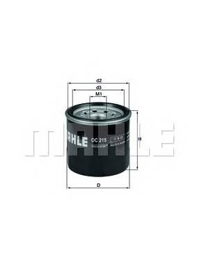 Масляные фильтры Фільтр масляний KNECHT арт. OC215