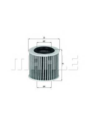 Масляные фильтры Фільтр масляний KNECHT арт. OX416D2