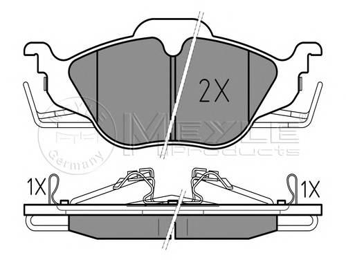 Тормозные колодки Тормозные колодки дисковые PAGID арт. 0252306317W