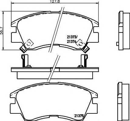 Тормозные колодки 21373/16,5мм Тормозные колодки PAGID PAGID арт. T0044