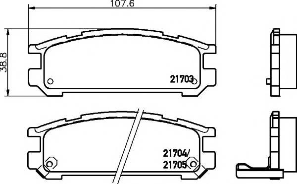 Тормозные колодки 21705/14,9мм Тормозные колодки PAGID PAGID арт. T3021