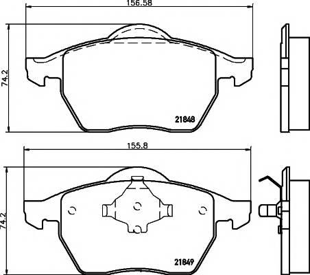Тормозные колодки 21848/20,3мм Тормозные колодки PAGID PAGID арт. T1106