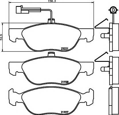 Тормозные колодки 21927/17,6мм Тормозные колодки PAGID PAGID арт. T1095
