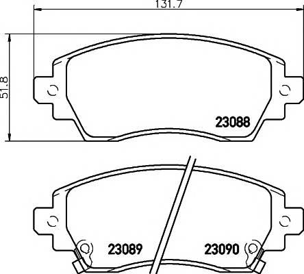 Тормозные колодки 23088/17,6мм Тормозные колодки PAGID PAGID арт. T3102