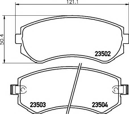 Тормозные колодки 23502/15,5мм Тормозные колодки PAGID PAGID арт. T3115