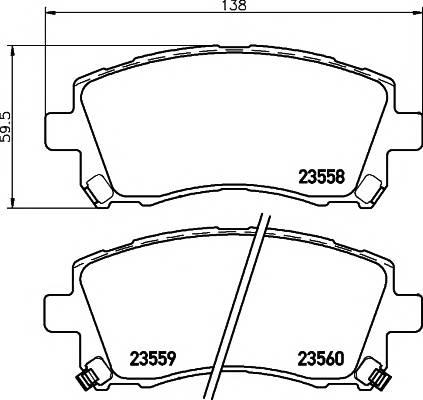 Тормозные колодки 23558/16,5мм Тормозные колодки PAGID ABE арт. T3125