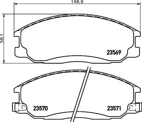 Тормозные колодки 23569/17,0мм Тормозные колодки PAGID PAGID арт. T1307