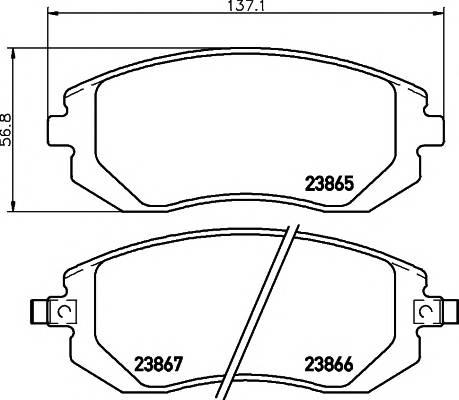 Тормозные колодки 23865/16,4мм Тормозные колодки PAGID PAGID арт. T1331