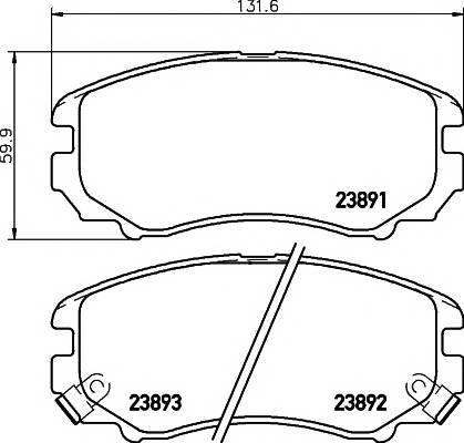 Тормозные колодки 23891/16,9мм Тормозные колодки PAGID ABE арт. T1412