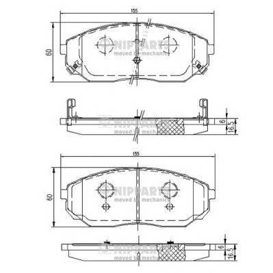 Тормозная система Гальмiвнi колодки, к-кт. PAGID арт. J3600318