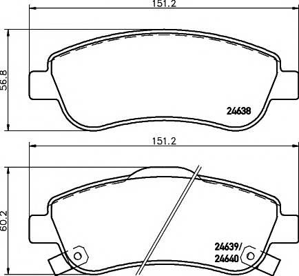 Тормозные колодки Тормозные колодки дисковые TEXTAR ABE арт. 2463801