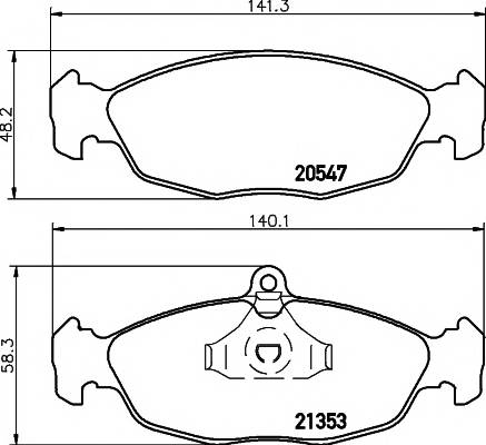 Тормозные колодки Тормозные колодки передние LANOS TEXTAR PAGID арт. 2054701