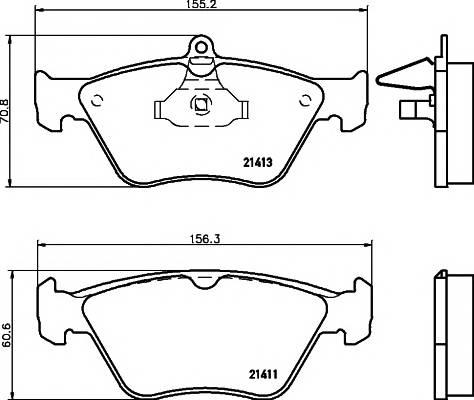 Тормозные колодки Тормозные колодки дисковые TEXTAR PAGID арт. 2141101