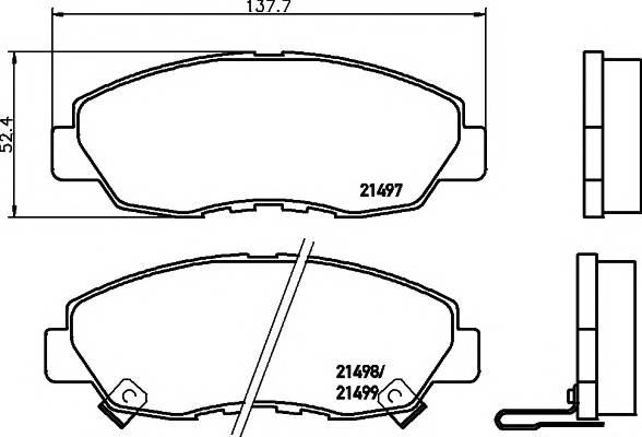 Тормозные колодки Тормозные колодки дисковые PAGID арт. 2149701