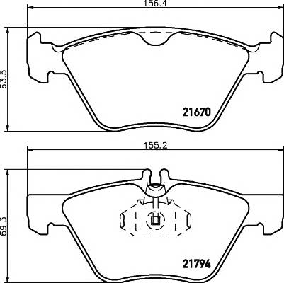 Тормозные колодки Тормозные колодки дисковые TEXTAR ABE арт. 2167001