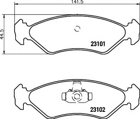 Тормозные колодки Тормозные колодки дисковые ABE арт. 2310101
