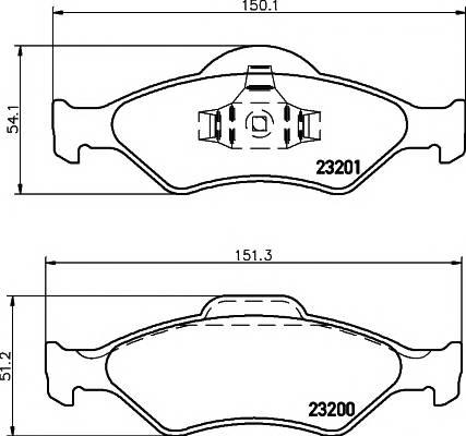 Тормозные колодки Тормозные колодки дисковые PAGID арт. 2320001