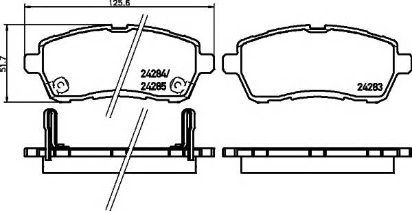 Тормозные колодки Тормозные колодки дисковые ABE арт. 2428303