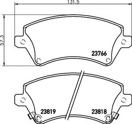 Тормозные колодки Тормозные колодки дисковые PAGID арт. 2376601